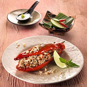 Baked Thai Stuffed Peppers
