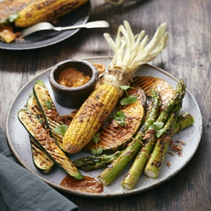 Bbq Vegetables With Chilli Butter