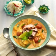 Coconut Red Duck And Pineapple Curry