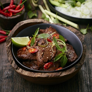 Glazed  Chilli Beef