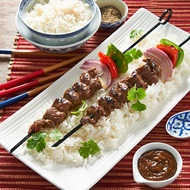 Massaman Peppered Beef Skewers
