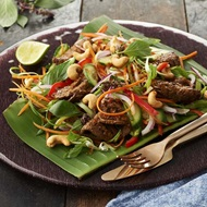 Stir Fry Thai Basil And Chilli Beef Salad