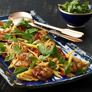 Thai Style Charred Prawn And Pineapple Salad