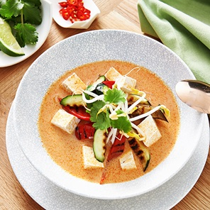 Grilled Vegetable And Tofu Laksa