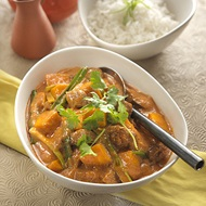 Luscious Beef  Pumpkin Curry