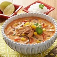 Thai Red Tuna Curry With Corn